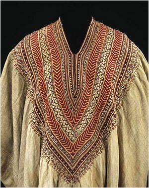 Woman's dress formerly in the possession of Queen Woyzaro Terunesh, 1860s. (Ethiopian?)