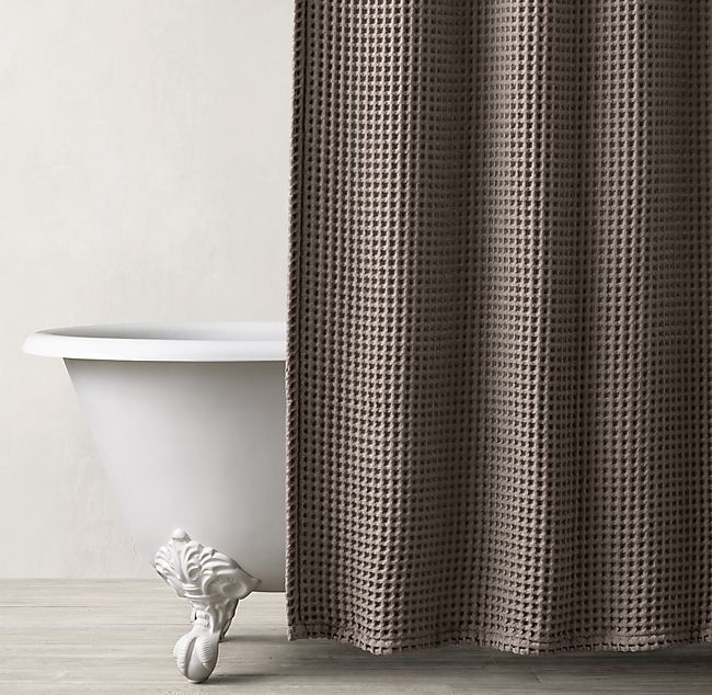 Waffle Weave Shower Curtain Waffle Weave Shower Curtain Small