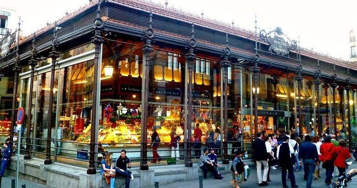 Mercado de San Miguel em Madri #viagem #barcelona #espanha
