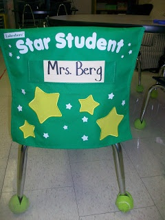 Weekly Star Student!  Cute idea for a reward for showing excellent behavior.