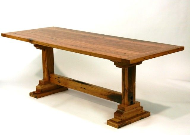 9 best trestle tables images on pinterest trestle tables for Dining room tables 36 x 54