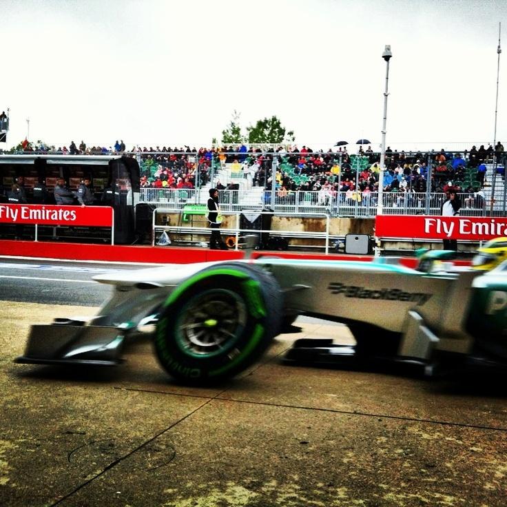 Lewis Hamilton come into the pits Canada Grand Prix - Mercedes - BlackBerry