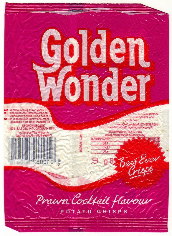 Golden Wonder Prawn Cocktail Crisps 1989, I never liked these!