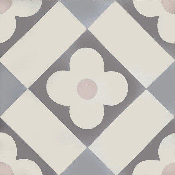 »Zementfliese Serie AZUL Ornament Flower« von Replicata - Abmessungen: - Replikate
