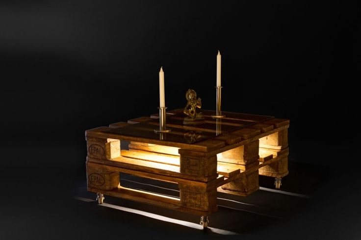 euro palettenm bel wohnzimmercouchtisch led beleuchtung loftm bel vintage designer. Black Bedroom Furniture Sets. Home Design Ideas