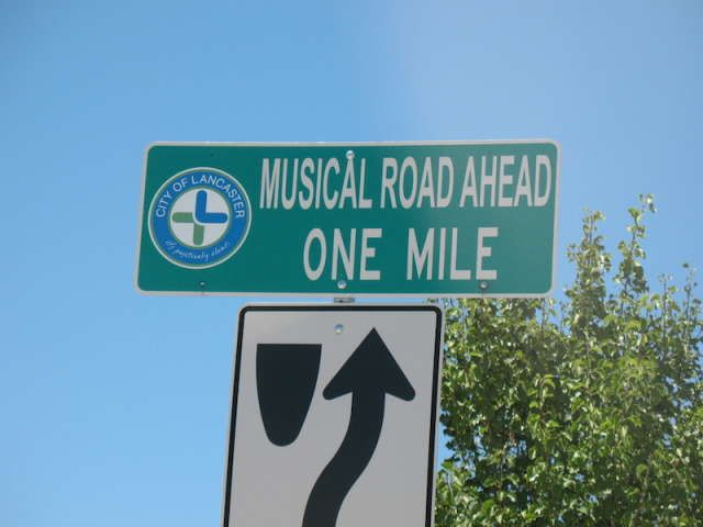 America's Musical Road: When you drive over this road it plays music - Lancaster, CA