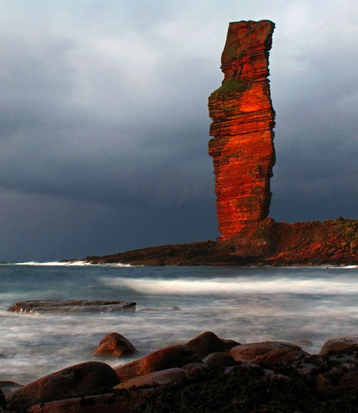 The Old Man Of Hoy, St John's head on the Isle of Hoy, Orkney, Scotland.