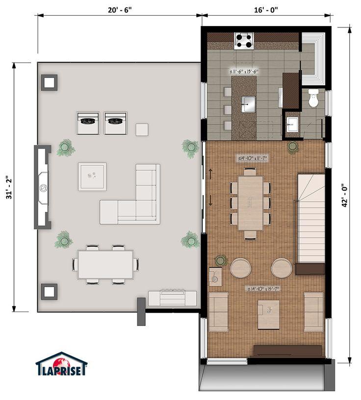 Designer, Zen / Contemporain | LAP0532 | Maison Laprise - Maisons pré-usinées