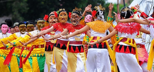 Tuping dance. Tuping dance performance from Lampung, Indonesia.Tuping means a mask.- Indonesia