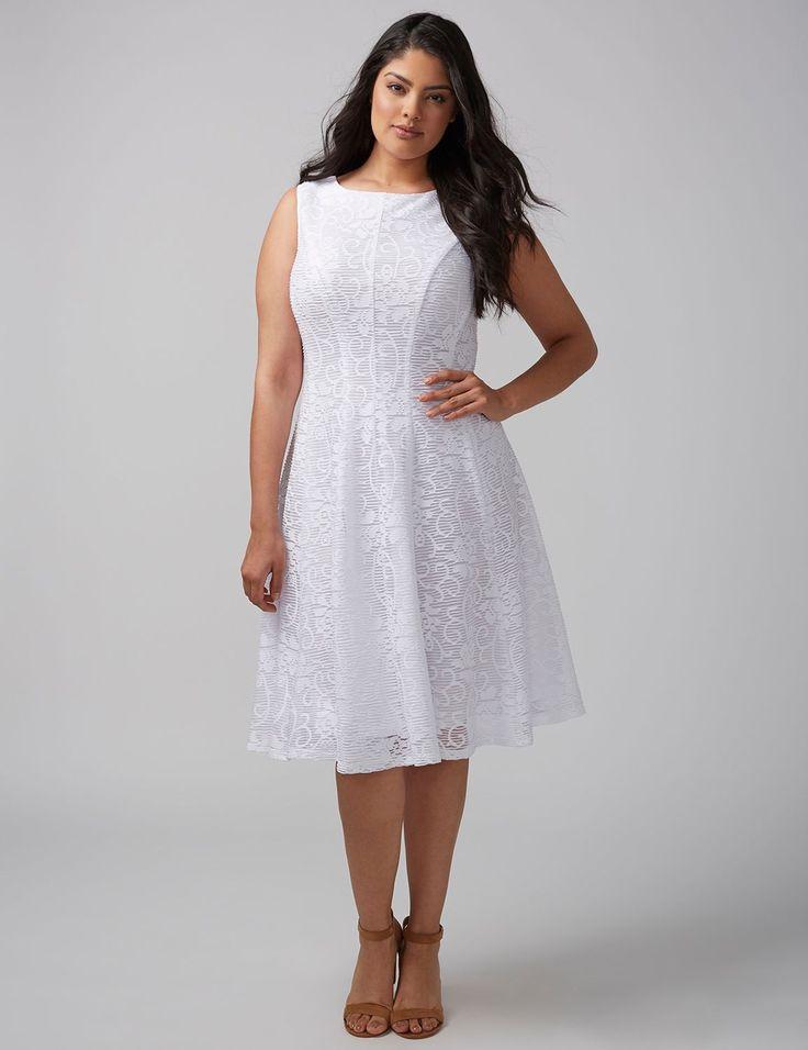Burnout Floral Fit & Flare Dress