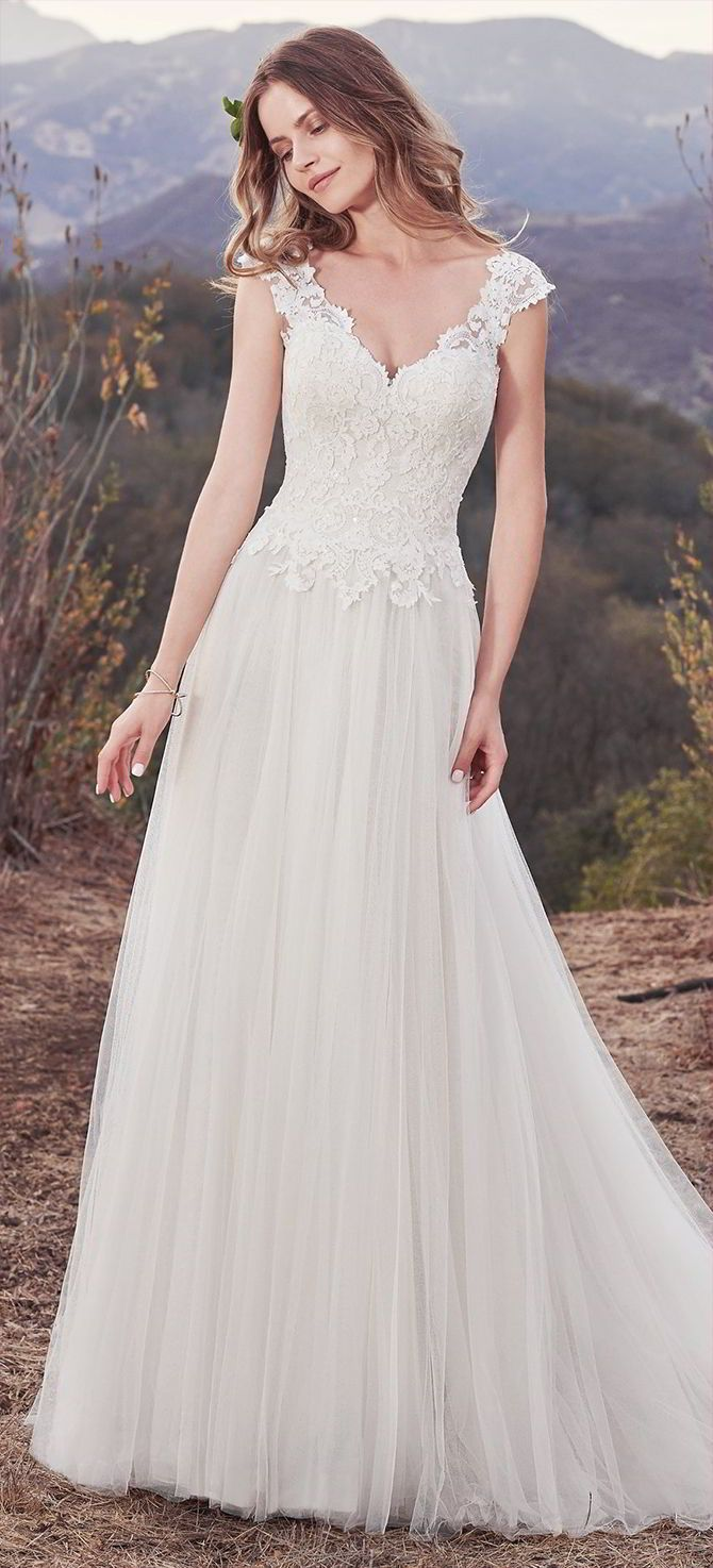 Laced up back wedding dresses