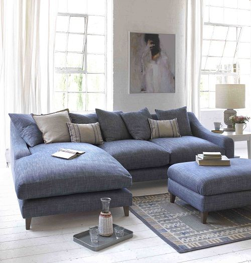 The Summertime Blues. 25  best ideas about Blue sofas on Pinterest   Blue living room