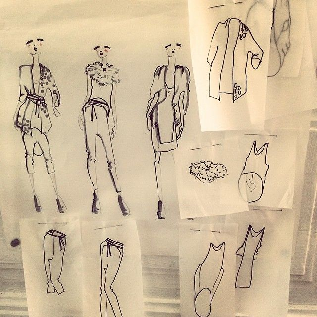 Sketches on the collection Never Born // Never Dead by Tibbe Smith. www.tibbesmith.com