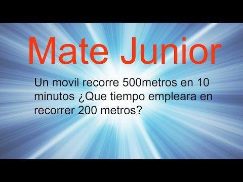 Ejercicio de regla de tres simple directa Sigueme en facebook y YouTube como Mate Junior