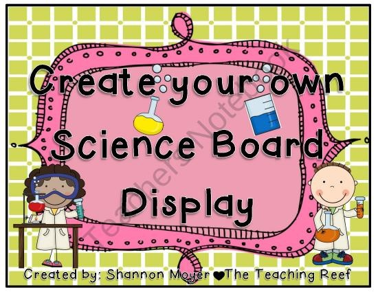 FREE Creating a Science Display Board product from The-Teaching-Reef on TeachersNotebook.com