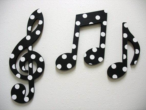 Music Notes Wall Decor Black And White