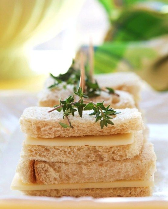 Afternoon Tea with Cheese-and-Thyme-Butter Sandwiches