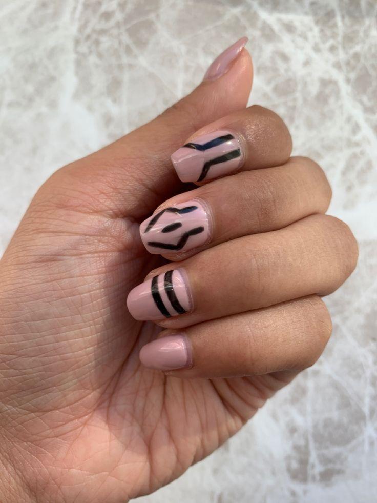 Sukuna Inspired Nails Jujutsu Kaisen Anime Nails Beauty Hacks Nails Pretty Acrylic Nails
