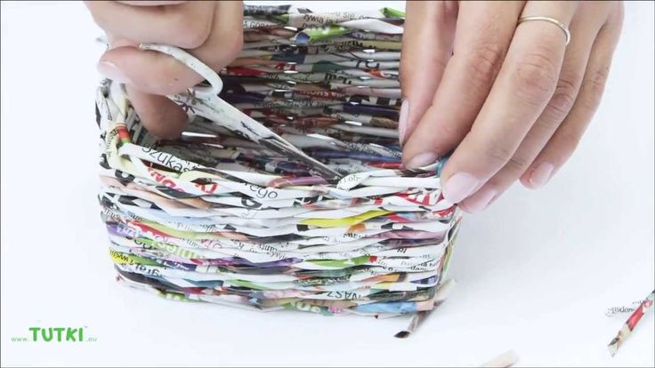tutorial - wave a sqare basket from newspapers