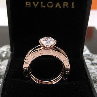 class wedding ring of Bvlgari