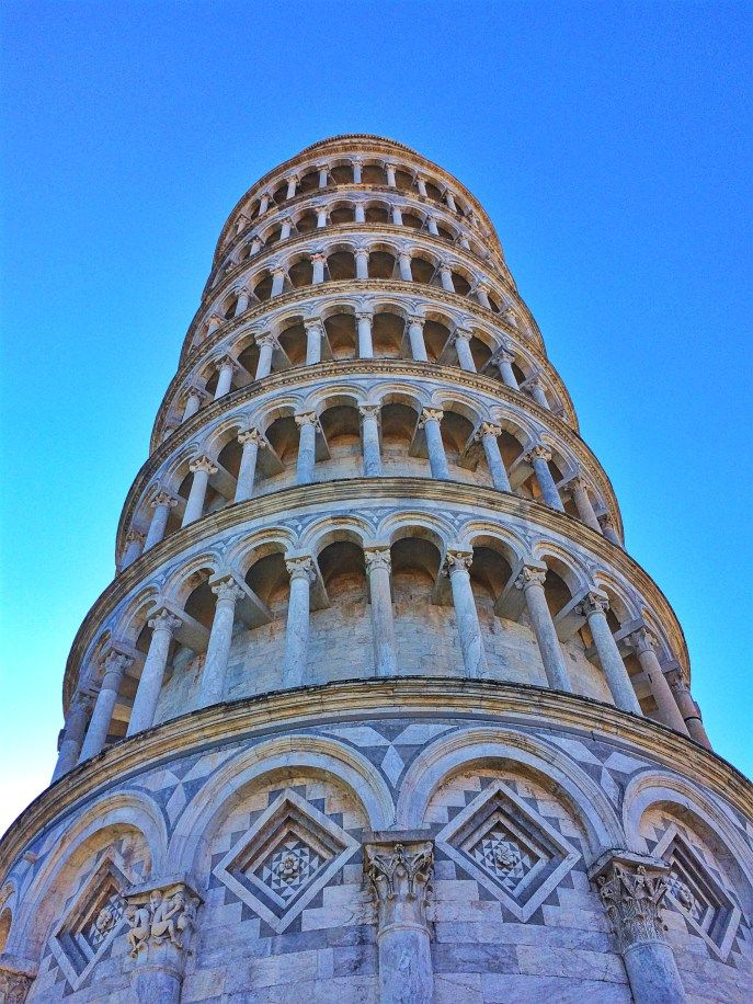 Detail Leaning Tower of Pisa. Check the linked photo gallery for more shots of this amazing tower.
