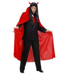 Rood fluwelen cape voor mannen