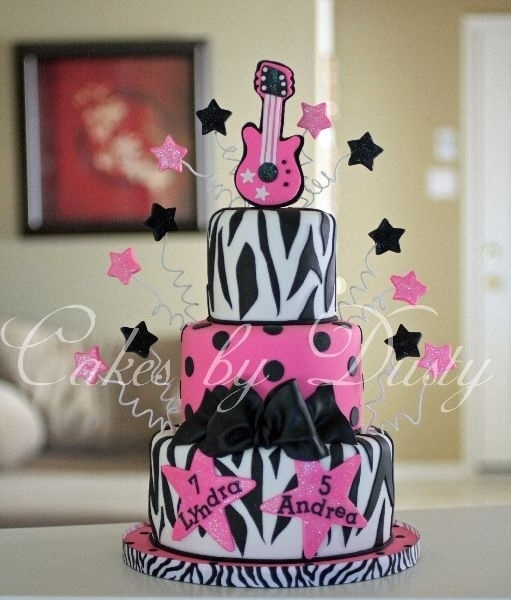 Zebra Rock Star Birthday Cake Barbie Pinterest
