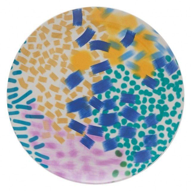COROCCO Set of 4 multi-coloured side plates