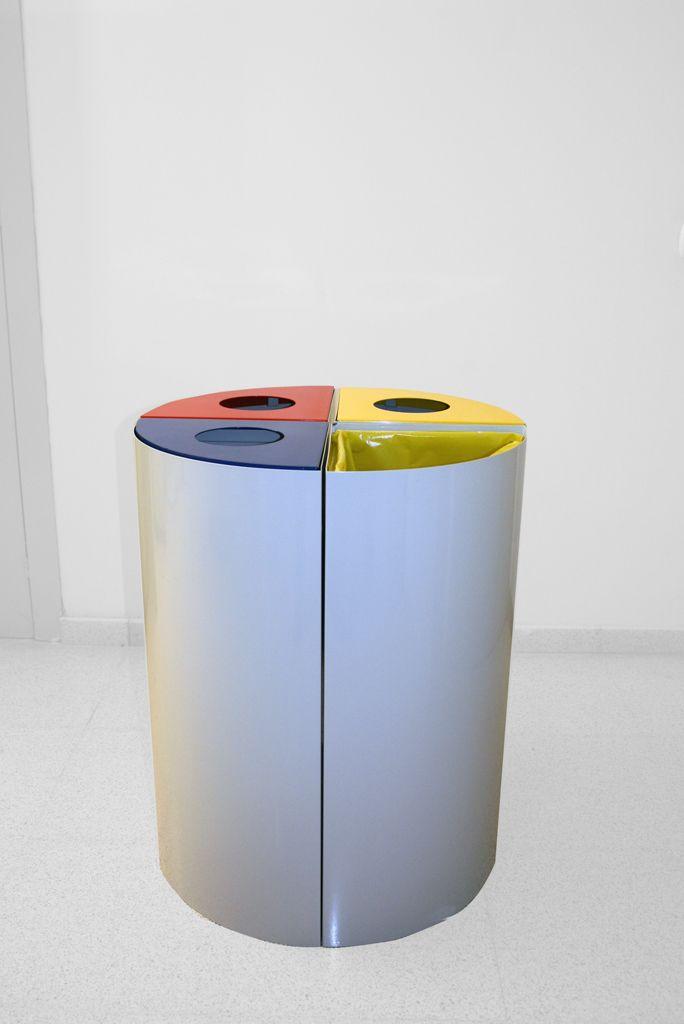 Papelera Circular De Preseleccion De Residuos Reciclaje