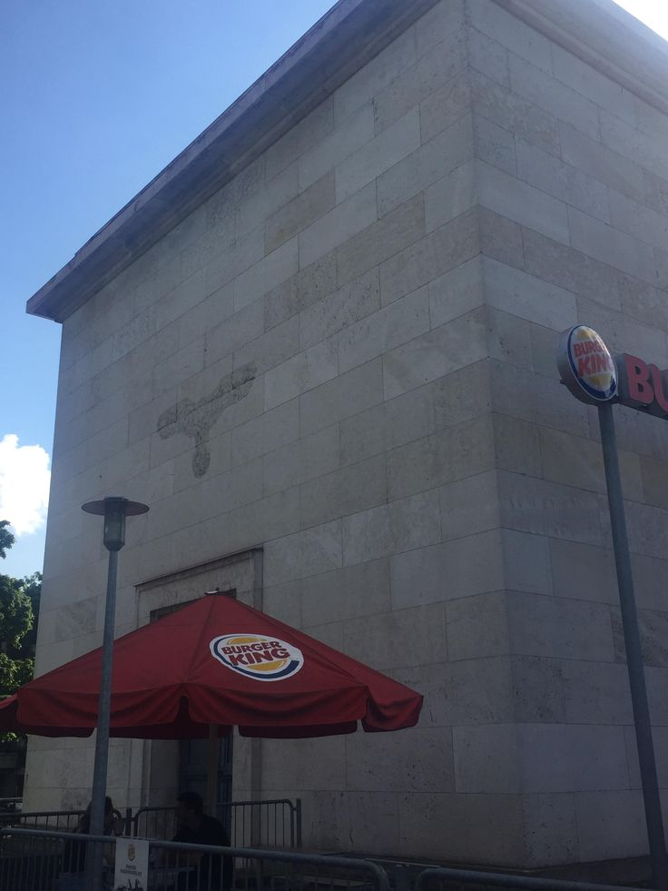 This building at the former Nazi Party rally grounds in Nuremberg Germany is now an American fast-food restaurant