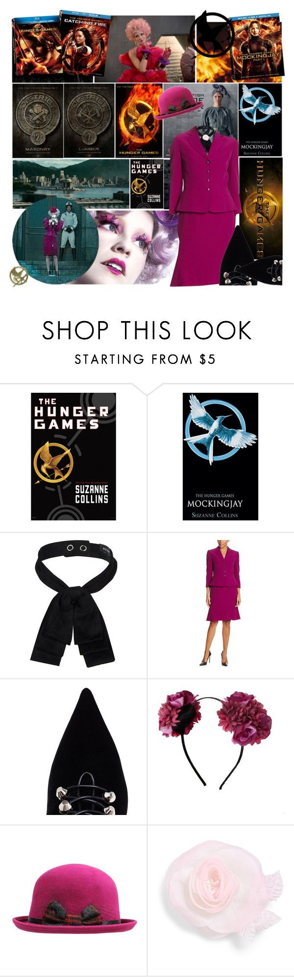 """""""Hunger Games Style - Effie Trinket"""" by mad-one ❤ liked on Polyvore featuring moda, China Glaze, River Island, Tahari by Arthur S. Levine, Balenciaga, Topshop, Cara, Hungergames y contestentry"""