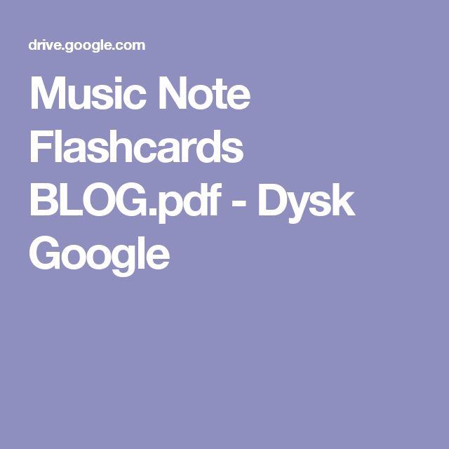 Music Note Flashcards BLOG.pdf - Dysk Google