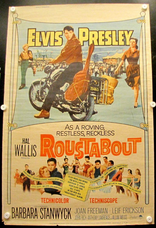 Elvis Presley Roustabout Original Vintage Movie Poster 1964 40x60 64 305 VG | eBay