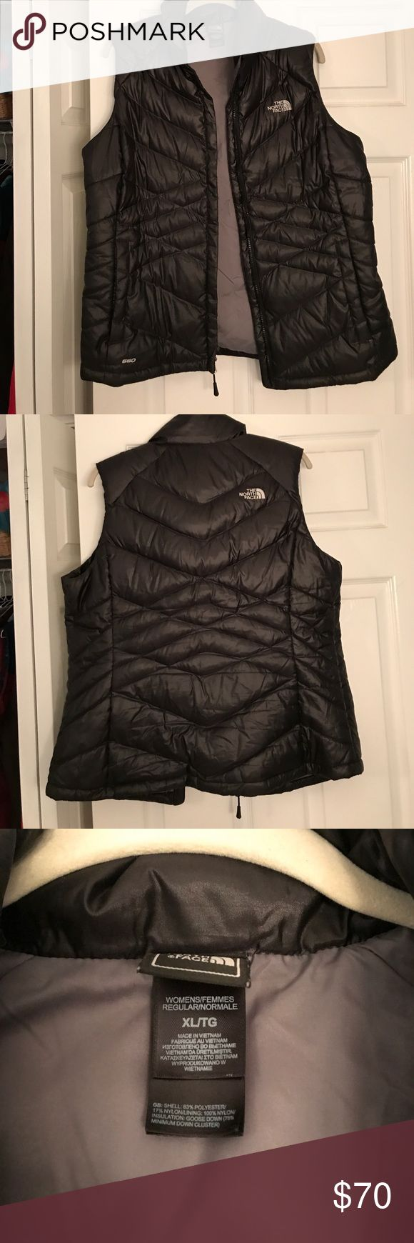 Northface Vest Black puffy vest The North Face Jackets & Coats Vests