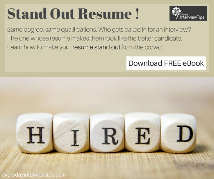 How To Make Your Resume Stand Out! Http://www