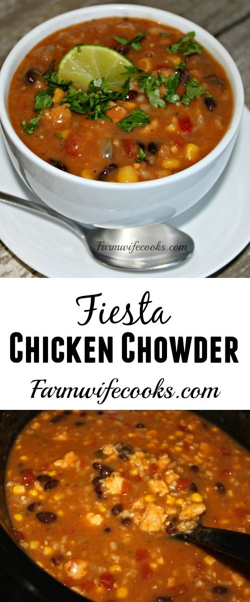 So good! Are you looking for a great slow cooker soup recipe? This Fiesta Chicken Chowder recipe has great flavor and is hearty enough to serve as a meal.