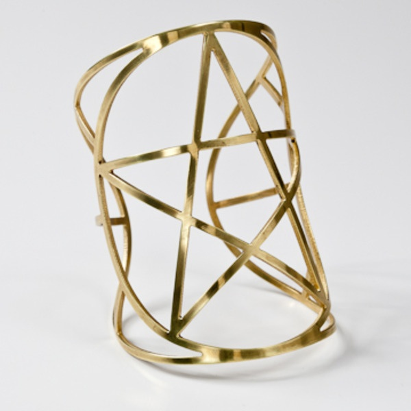 Brass Mini Star Cuff by Pamela Love