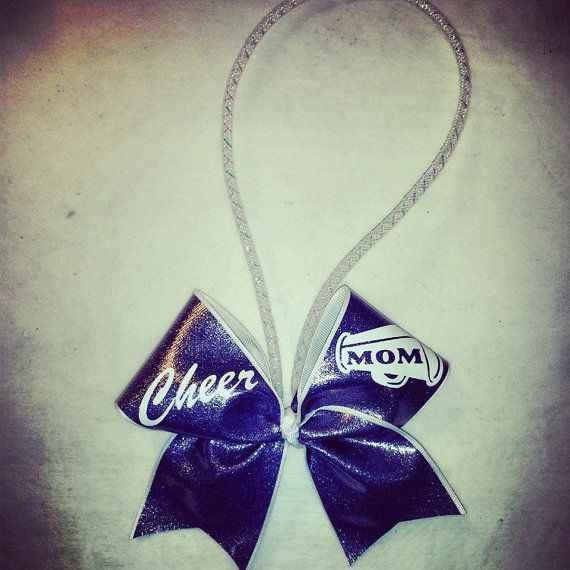 cheer mom rearview mirror/keychain CHEER bow by blingonthebowz, $6.00