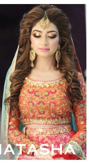 Pakistani Bridal wedding Hairstyles 2016