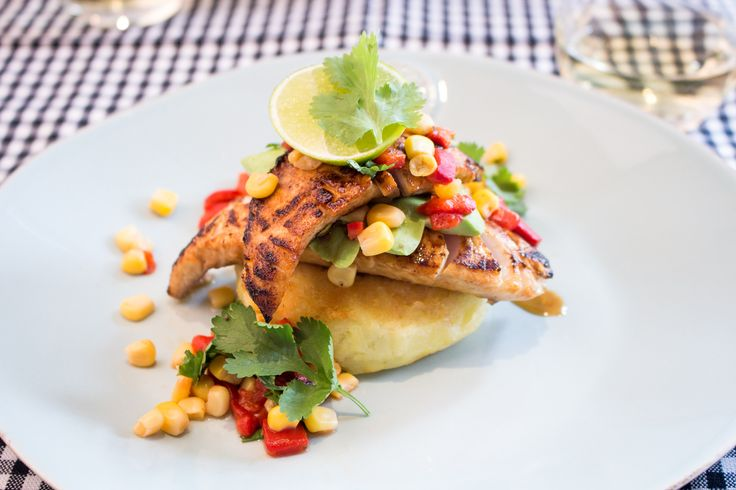 Hola! Tonight's dinner comes all the way from the stunning shores of Chile! Enjoy fresh gurnard on a bed of golden potato pancakes (milcaos) with avocado and cilantro salsa dancing on top. A fresh, vibrant dish to match the sun that has come out to play!