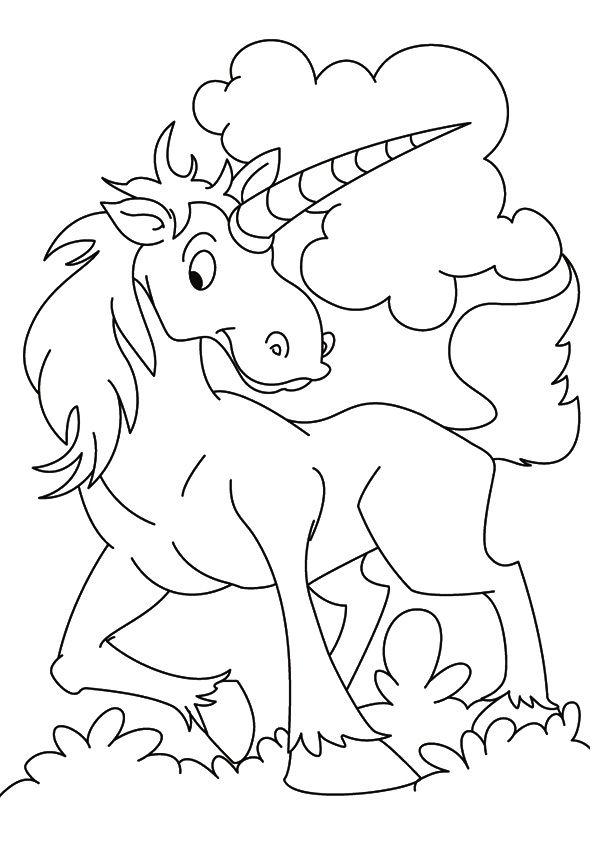 40 Best Unicorn Coloring Images On Pinterest