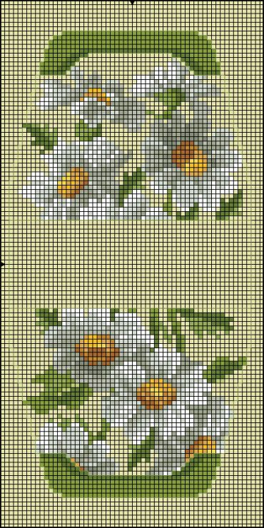 Cross-stitch Daisies Purse... no color chart available, just use pattern chart as your color guide.. or choose your own colors...   Gallery.ru / Фото #117 - ****carteiras,bolsas e sacolas***** - celita