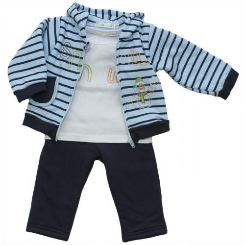 Conjunto de niño 3 piezas con sudadera a rayas | Set of child 3 pieces with striped sweatshirt