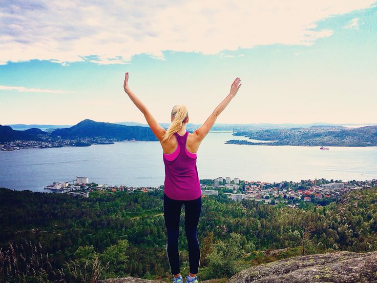 Norway Bergen mountain view
