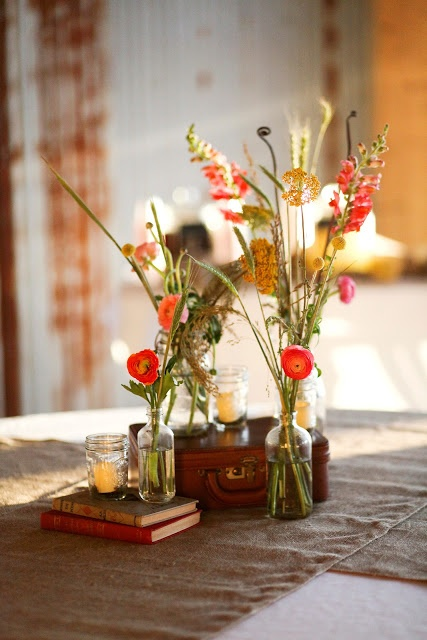 Loose Flower Centerpiece : Best images about fall wedding decor on pinterest