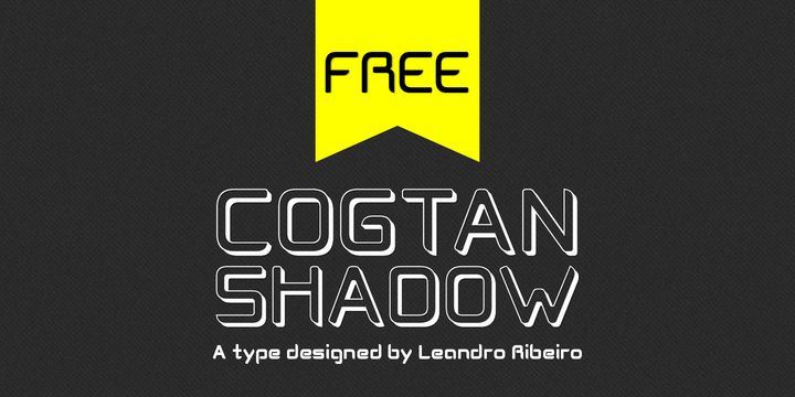 Cogtan Shadow (Free) - http://fontsdiscounts.com/cogtan-shadow-free/