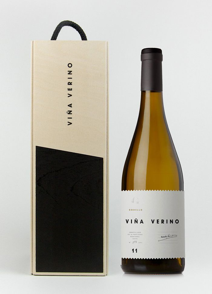 Random idea: to make it look like a wine bottle, with year and district and so on. Also: http://www.arohadrinks.co.nz/shop/sauvignon-blanc-saffron-detail --- ViñaVerino