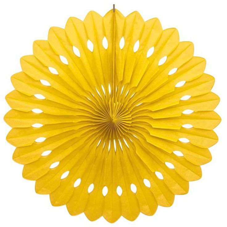 Yellow Decorative Party Fan