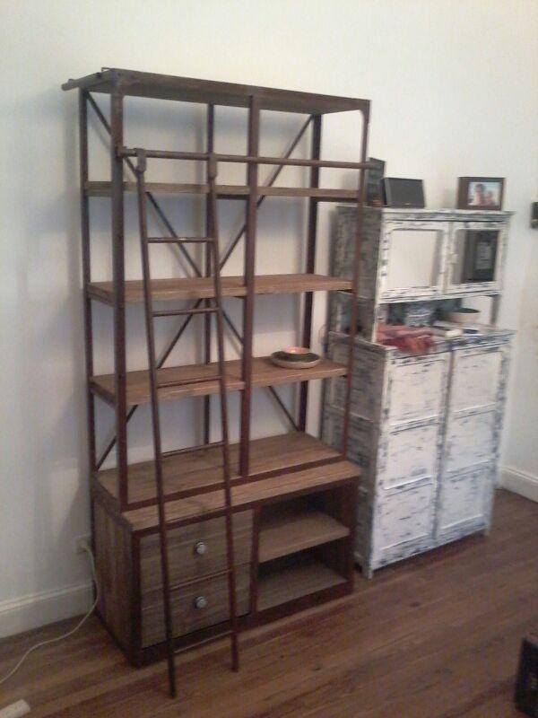 Muebles bibliotecas rusticas 20170805181546 - Muebles hierro y madera ...