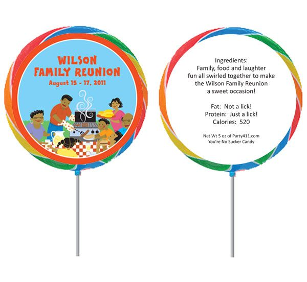 Reunion Activities | Family Reunion Theme Lollipop / A great family reunion lollipop